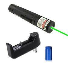 532nm Green Laser Pointer Light Pen Beam High Power 5mw +16340 Battery +Charger