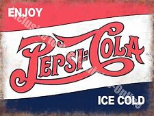 Pepsi Cola Classic Drink Advertising Cafe Diner Pub Bar Large Metal/Tin Sign