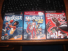 PS2 Play Station 2   NBA STREET VOL 1, 2 and 3  EA Sports with all manuals