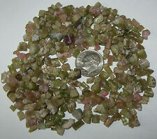 25ct Lot Watermelon Tourmaline Rough Small Crystals, Slices & Pieces