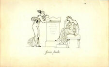 Grecian Females Seated Understanding Poses Greek Roman Engraving