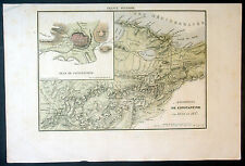 1838 Rousseau Antique Map of Algeria & Constantine uprising of 1836-37, French