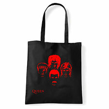 Art T-shirt, Borsa shoulder Queen Faces, Nera, Shopper, Mare