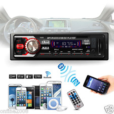 Bluetooth Car In-Dash Stereo Audio Receiver SD USB MP3 Player Radio Aux FM Input
