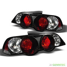 For 02-04 Acura RSX Black Tail Lights Lamps Rear Brake Pair Left+Right New Set