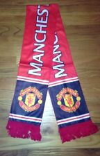 "Manchester United FC Fleece Soccer Football  Scarf Flag Reversible  7"" x 53"""
