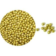 Dragees Gold Sugar Cake Cupcake Cookie Sprinkles  4 mm  2 oz