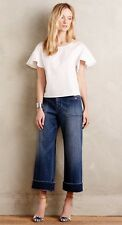 Anthropologie Pilcro Jeans 28 Wide Leg Sailor Crop Medium Denim Flare Culottes