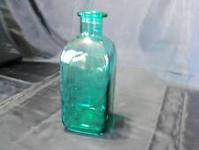 Vintage Style Green Teal Glass Bottle