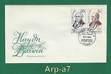 (FC998) Czechoslovakia FDC - First Day Cover 1959 F.J.Haydn and Ch.Darwin