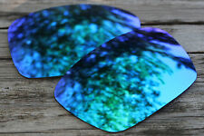 Mirrored Sky Blue Polarized Replacement Sunglass Lenses for Oakley Fuel Cell