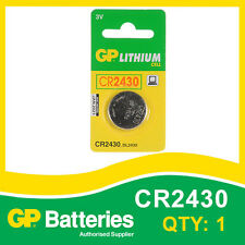 GP Lithium Button Battery CR2430 (DL2430) card of 1 [WATCH & CALCULATOR + OTHER]