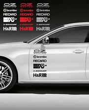 Indiashopers 12Pcs Racing Sponsors Logo Sport Graphic Emblem Decal