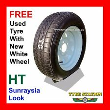 New Sunraysia look 14x6 Trailer, Caravan HT Wheel with FREE secondhand tyre