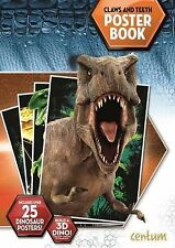 Jurassic World Claws and Teeth Poster Book NEW BOOK by Centum (Paperback, 2015)