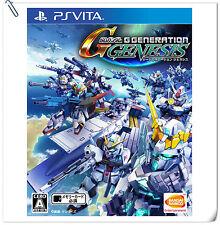 PSV SD Gundam G Generation Genesis VITA Strategy Games Bandai Namco