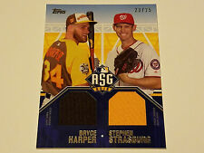 2016 Topps Update All-Star Dual Stitches Relic 23/25 Bryce Harper/S.Strasburg