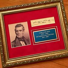 President JAMES K. POLK Scarce Cut Signature AUTOGRAPH SIGNED * COA