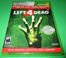 Left 4 Dead Game Of The Year Edition Xbox 360 Factory Sealed! Free Shipping!