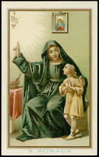 antico santino cromo-holy card S.MONICA