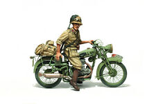 1/35 Scale Resin kit WW2 GILERA LTE500 WITH BERSAGLIERE - NORTH AFRICA motorbike