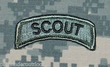 Scout Tab ACU Morale Patch w/ Hook Fastener Backing Free Shipping to US & APO!