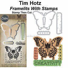Tim Holtz ~ Limitations ~ Framelits Dies With Stamps ~ Stamp Then Cut ~ NIP