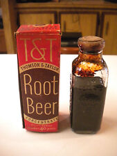 Vintage T & T / Thomson & Taylor Root Beer Concentrate Bottle & Original Box