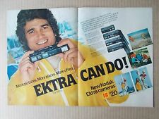 KODAK EKTRA CAMERA with MICHAEL LANDON 1978 VINTAGE 2 PAGE MAGAZINE AD  INV#286
