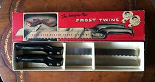 The Amazing New FROST TWINS FROZEN FOOD KITCHEN KNIVES Vintage Set MILLERS FALLS