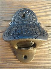 FANTASTIC ANTIQUE STYLE STELLA ARTOIS BAR WALL MOUNTED BOTTLE OPENER BEER TOP