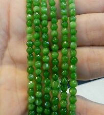 4mm Faceted Green Peridot Round Loose Beads Gemstone 15""