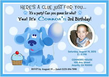 BLUES CLUES CUSTOM PRINTABLE BIRTHDAY PARTY INVITATION & FREE THANK YOU CARD