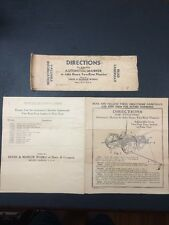 Directions for Attaching Automatic Marker to John Deere Two-Row Planters 1937