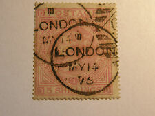 (B327) QUEEN VICTORIA 1867-83 5s RED PLATE 1