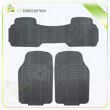 3PC Trunk Floor Mats for Alfa Romeo Cars All Weather Rubber Heavy Duty Black