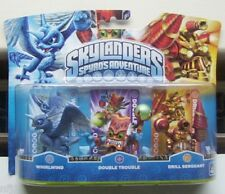 SKYLANDERS Spyro's Adventure Pack of 3 - Whirlwind, D/Trouble & Drill Sergeant
