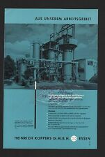 ESSEN, Werbung 1960, Heinrich Koppers GmbH Stadt-Gas-Erzeugung