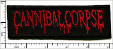 "20 Pcs Embroidered Iron on patches Canibal Corpse Metal Band 5""x1.56"" AP056tA"