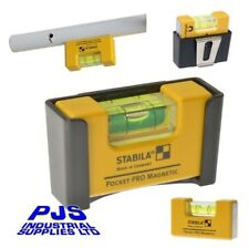 Stabila pocket pro mini rare earth magnetic level 17953 STBPKTPRO with belt clip