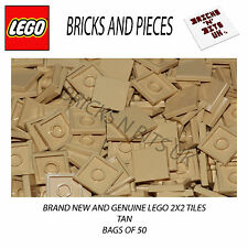 LEGO 2X2 TILE 3068 TAN BAG OF 50, CITY, STAR WARS, CREATOR, HEROES, FRIENDS