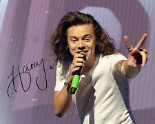 REPRINT - HARRY STYLES 4 One Direction 1D autographed signed photo copy