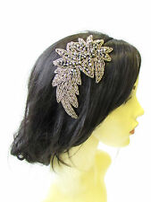 Black Gold Pewter Silver Bead 1920s Headband Headpiece Flapper Great Gatsby 1369