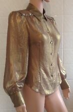 Karen Millen size 10 Gold Long Sleeve Shirt
