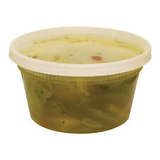 Pack of 10 Plastic Deli Food Container 12 oz DeliTainer with Lids