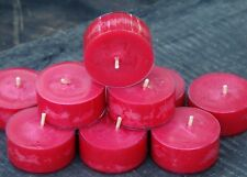 10pk 120hr/pk CHOCOLATE DIPPED STRAWBERRY Triple Scented Soy TEA LIGHT CANDLES