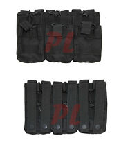 MOLLE TACTICAL Triple Stacker .223 or 5.56mm Magazine MAG Pouch Ammo Carrier-BLK