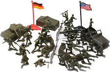 Kids World War II Combat Force 38 Piece Toy Soldier Play Set