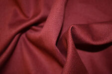 """BURGUNDY WINE COLOUR STRETCH COTTON ELASTANE TWILL FABRIC 55"""" WIDTH BY THE METRE"""