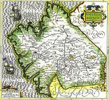 MAP ANTIQUE MERCATOR 16TH CENTURY GALICIA OLD LARGE REPLICA POSTER PRINT PAM1051